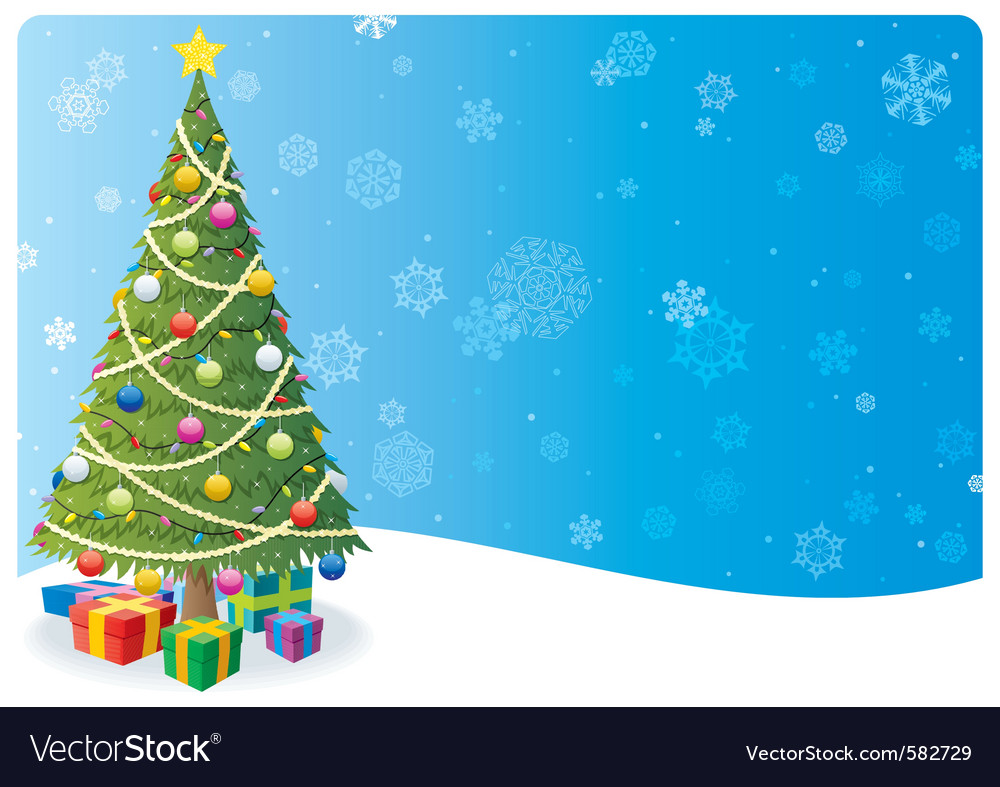 Christmas tree background 1 vector