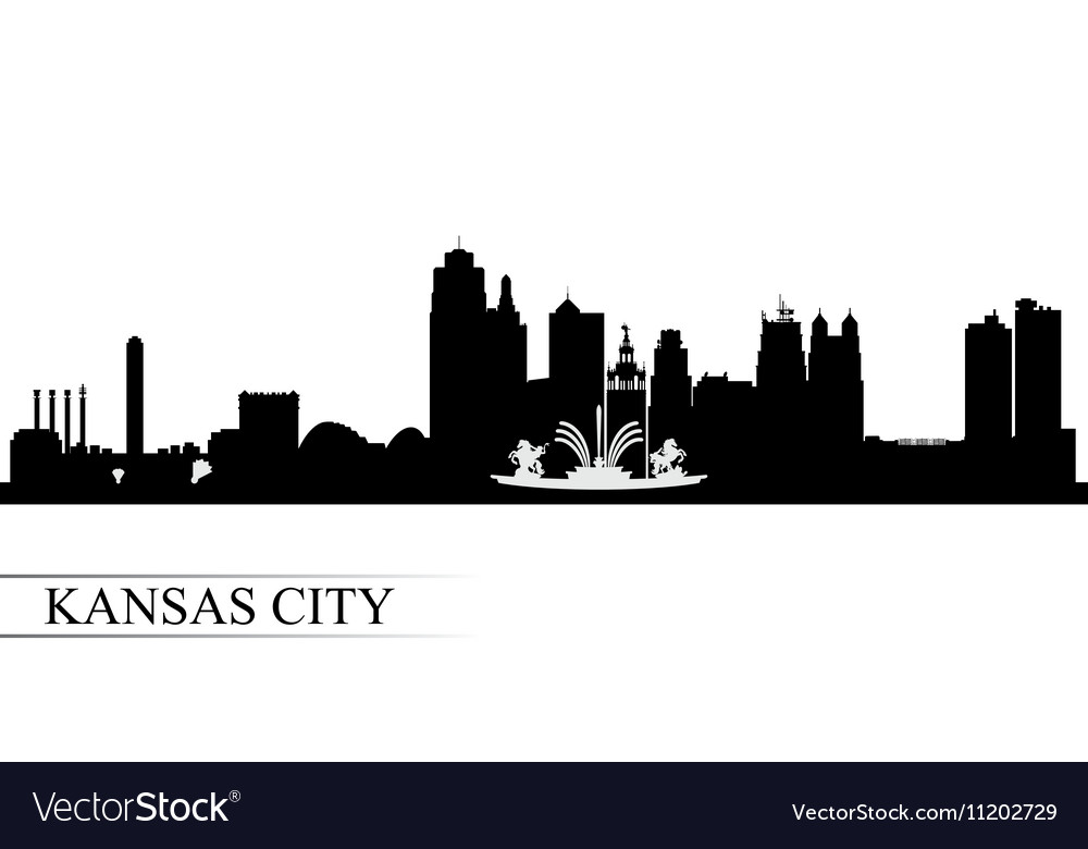 Kansas city skyline silhouette background vector