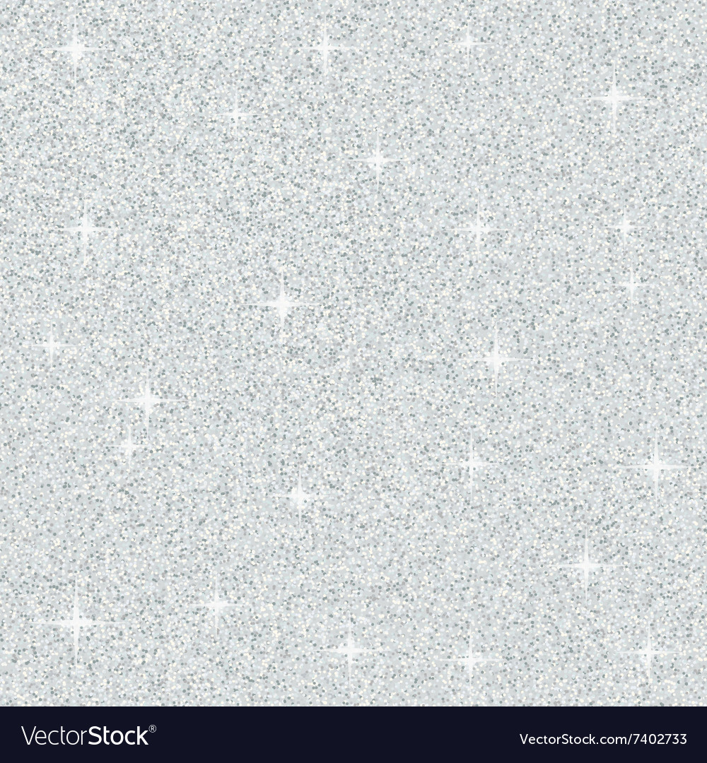 Abstract silver glitter texture vector