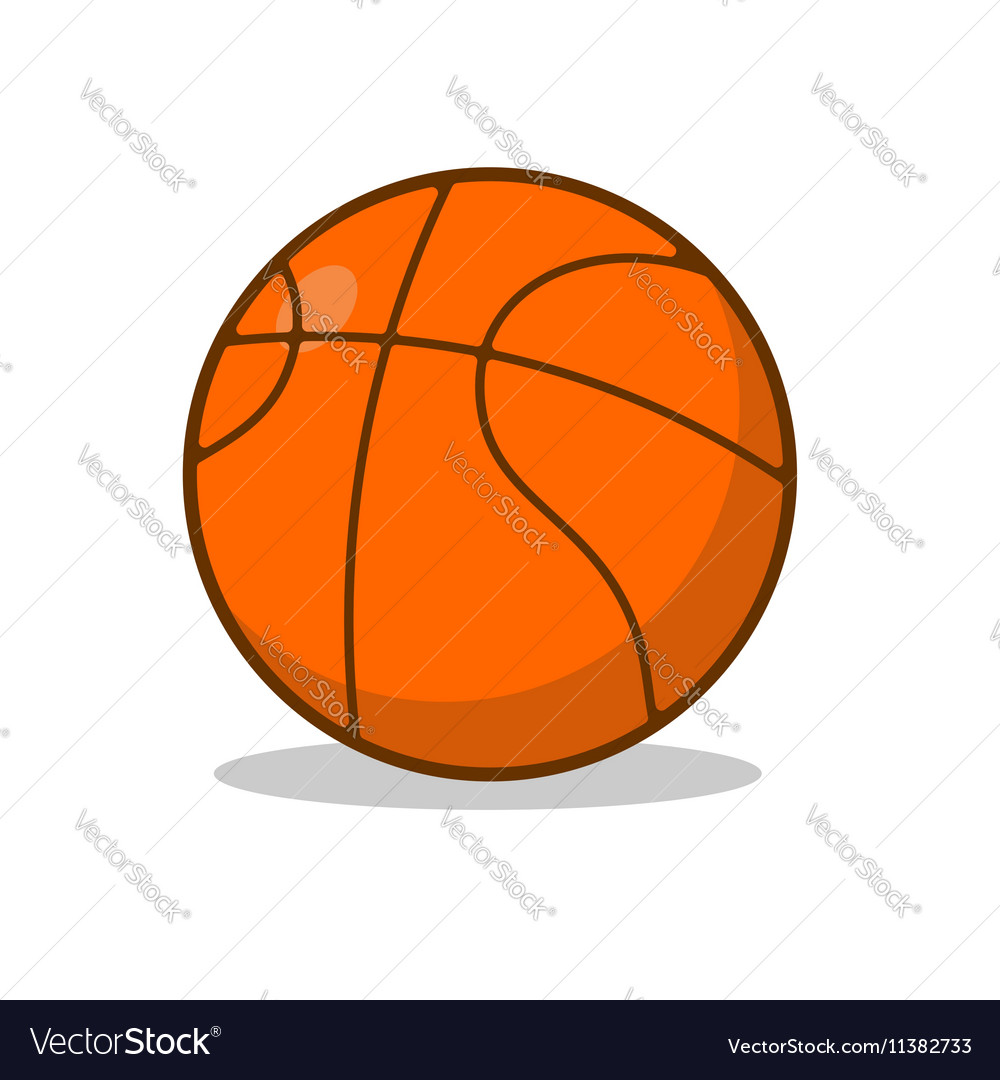 Basketball ball isolated sports accessory for vector