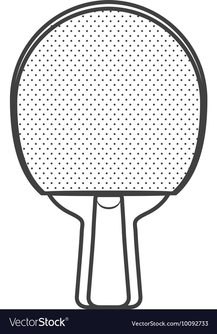 Racket ping pong hobby sport icon graphic vector