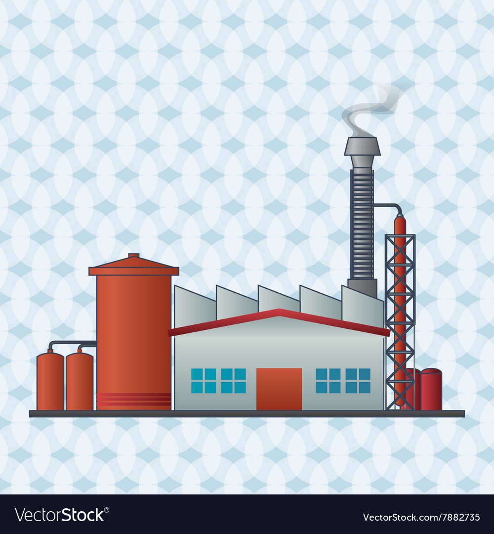 Factory plant design vector