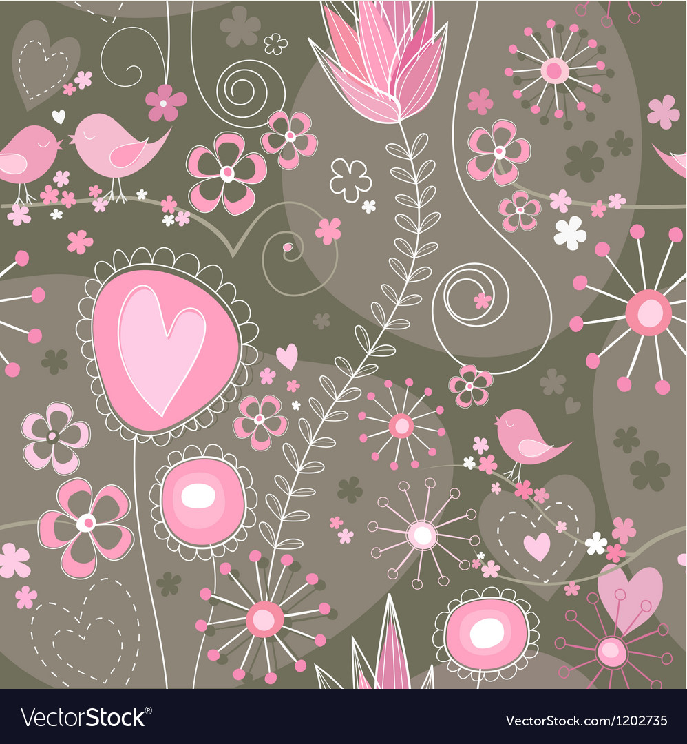 Whimsical seamless background vector