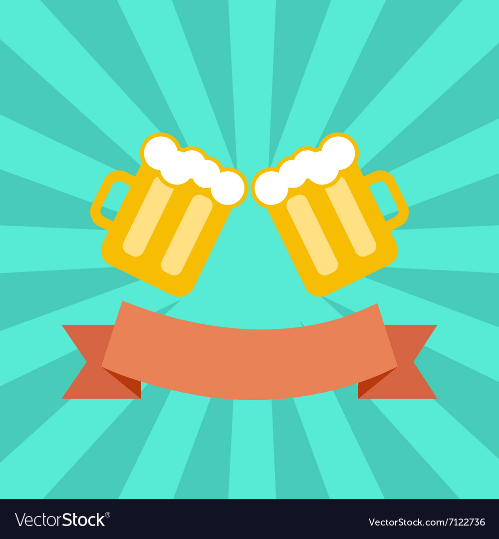 Clink glasses vector