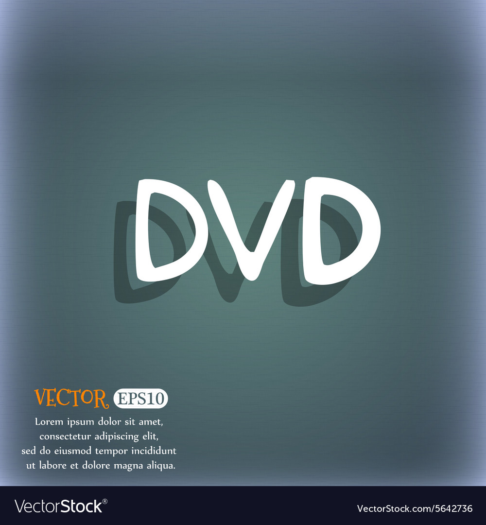 Dvd icon symbol on the bluegreen abstract vector
