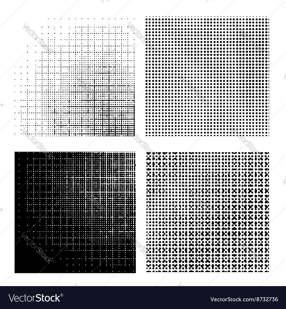 Set of dotted textures vector
