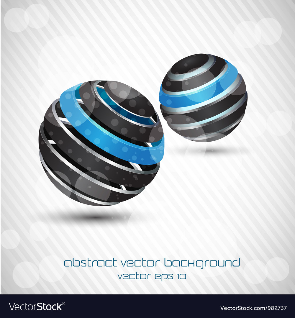 Abstract sphere bckr vector