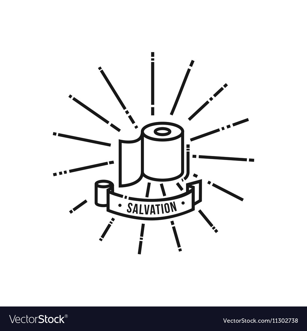 Toilet paper saving icon vector