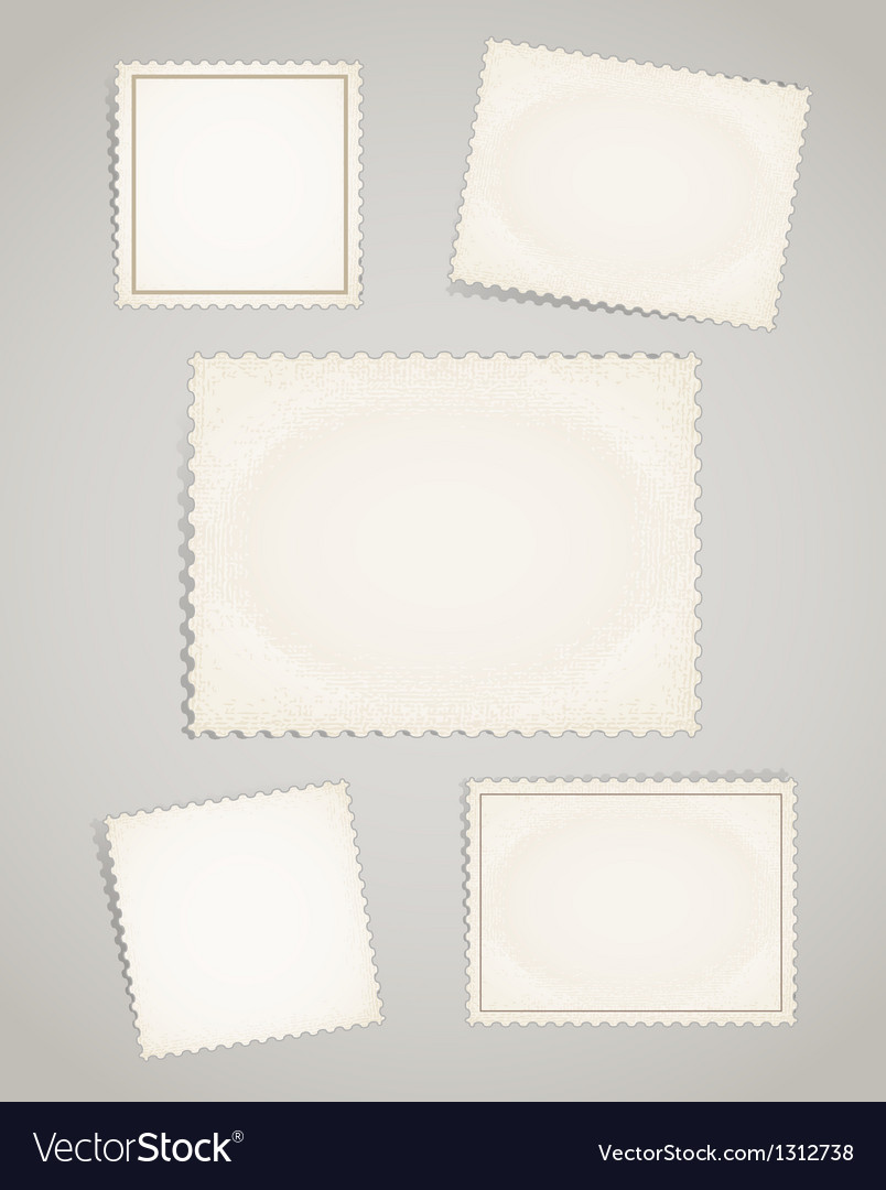 Vintage post stamps template clipart vector