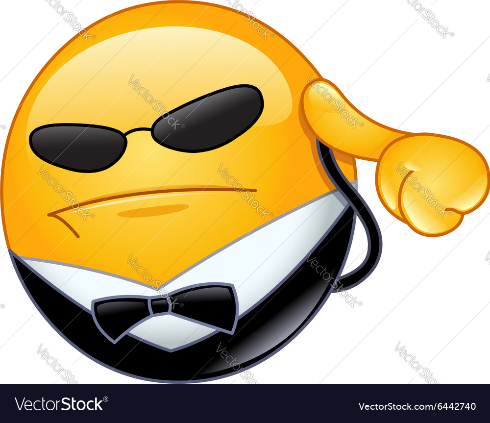 Bodyguard emoticon vector