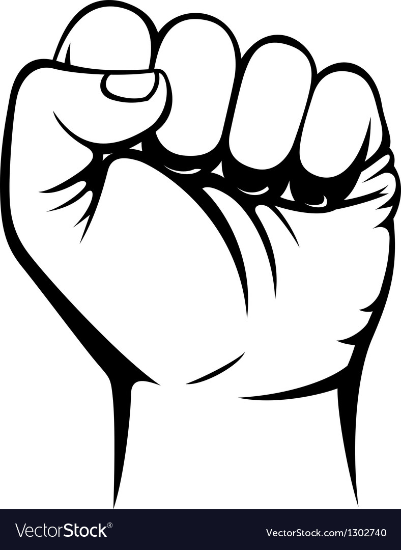 Male clenched fist hand vector