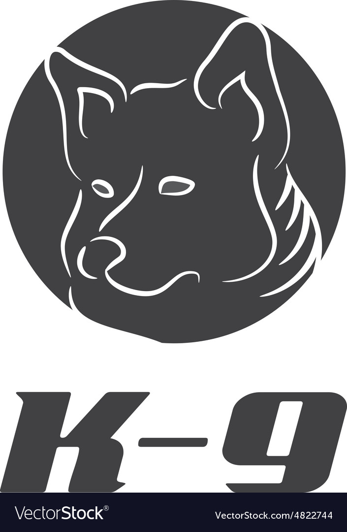Icon k9 with dog vector