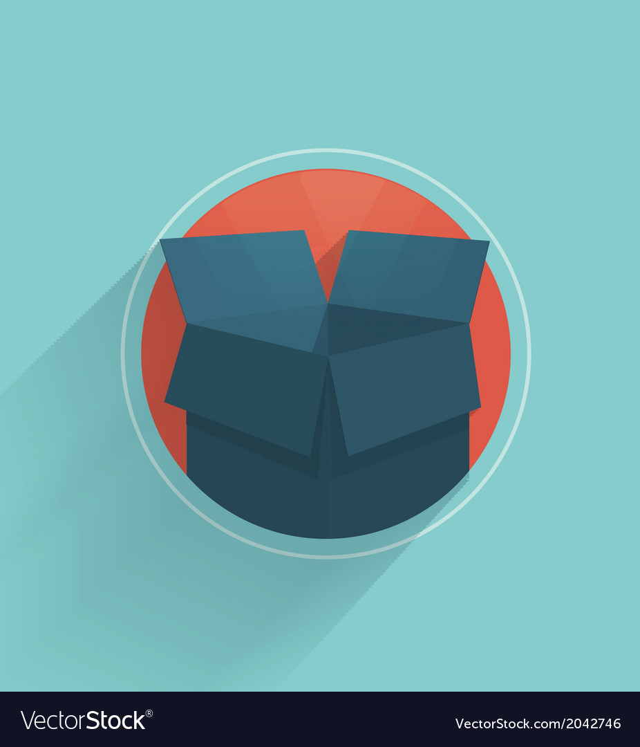 Carton box vector