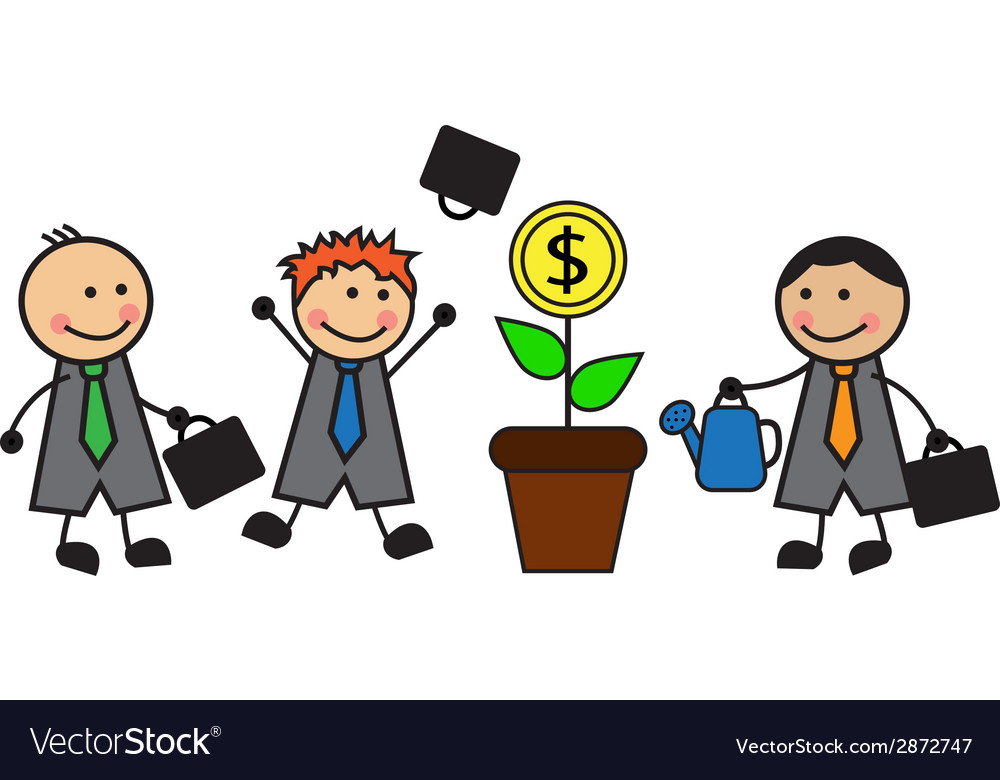 Money tree and business vector