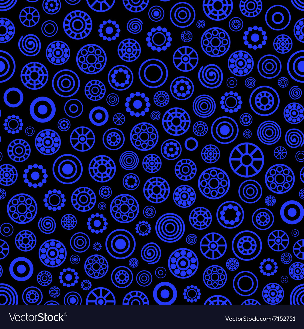 Dark blue circle seamless pattern vector