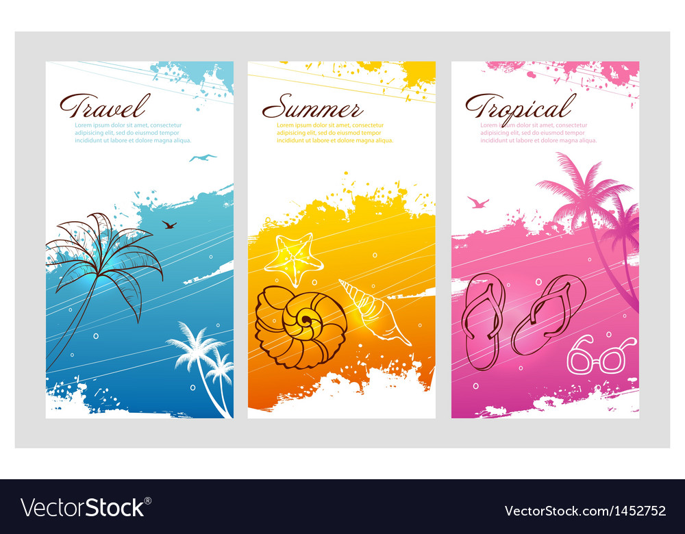 Splash travel vector