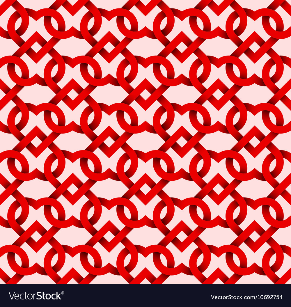 Abstract repeatable pattern background of red vector