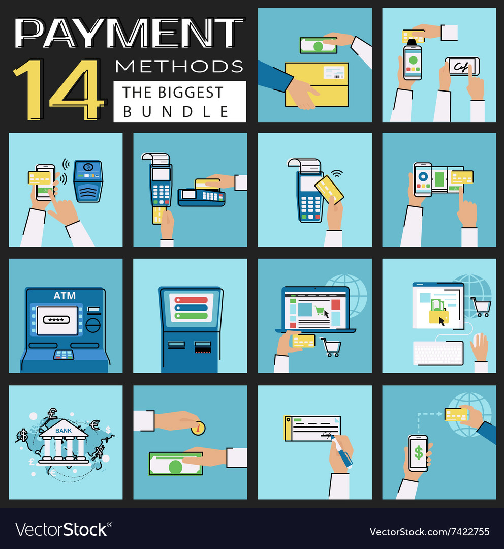 Flat concept set of payment vector