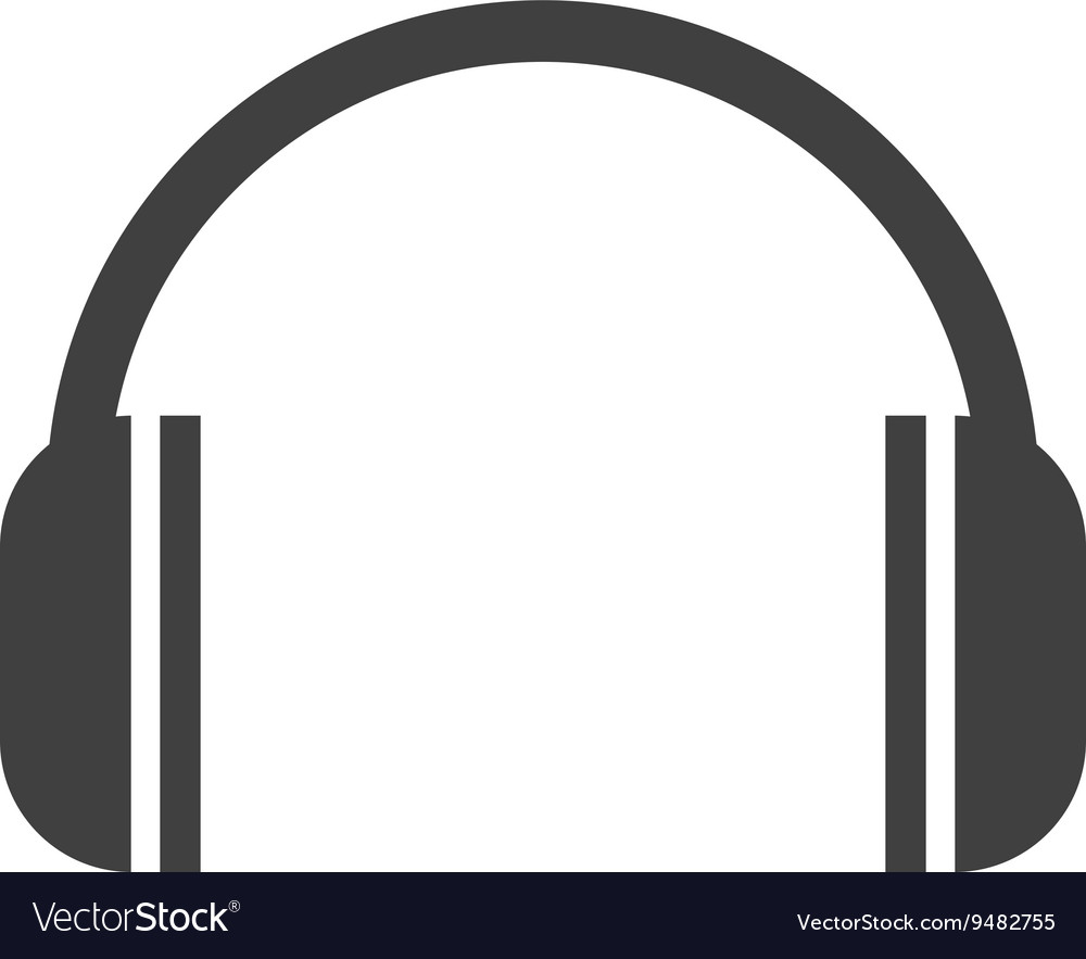 Headset isolated icon design vector