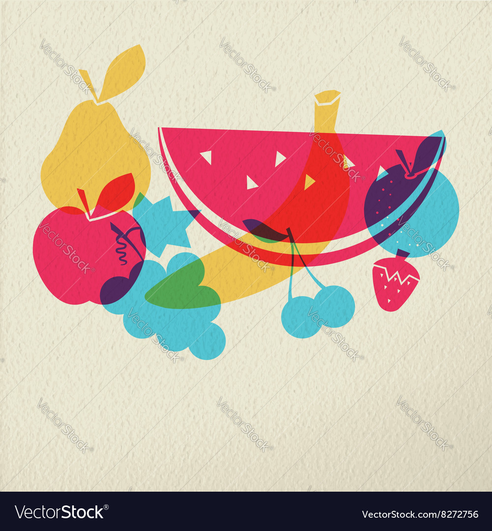 Healthy food diet fruit concept icon color design vector