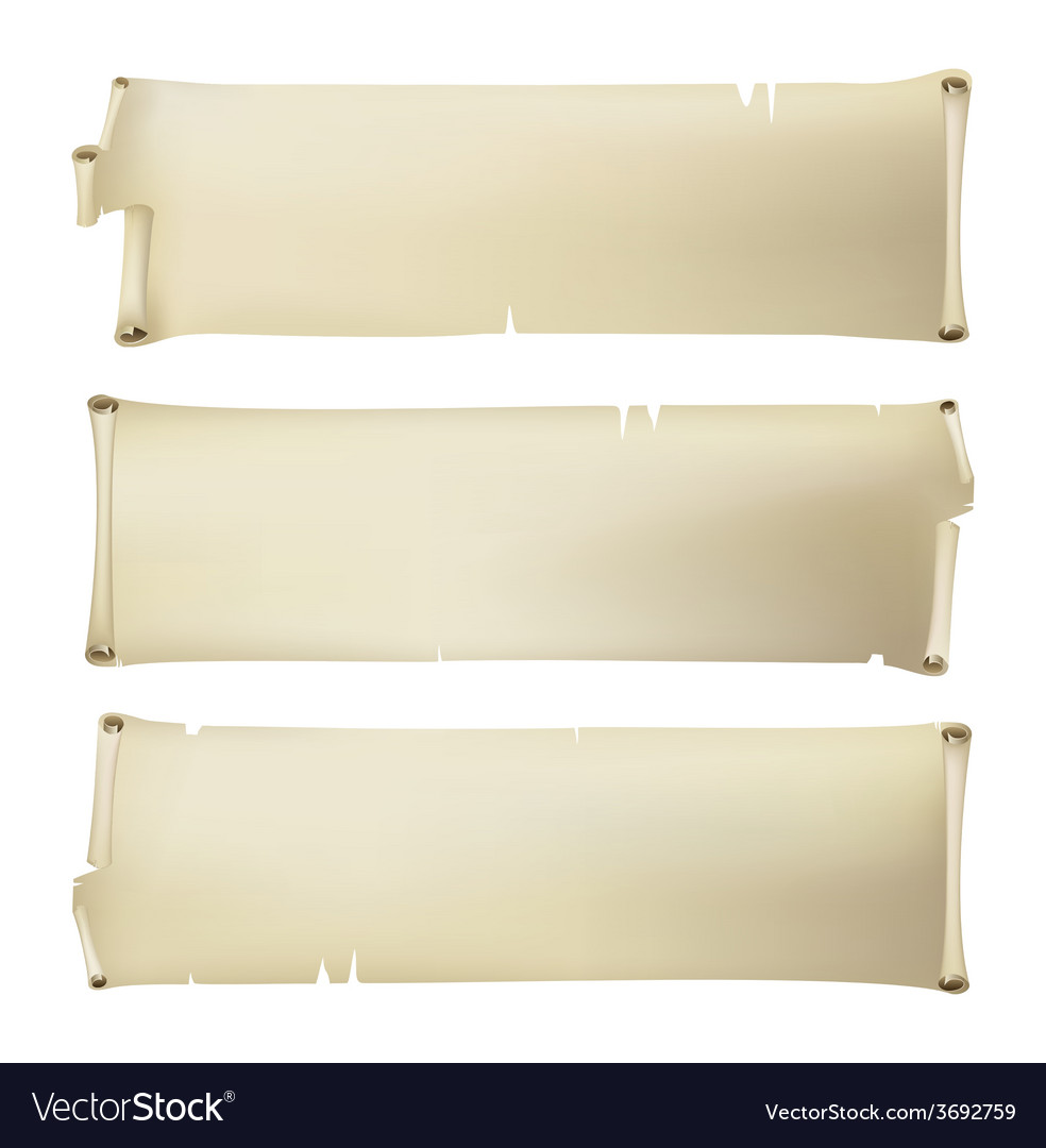 Set of old paper banners vector
