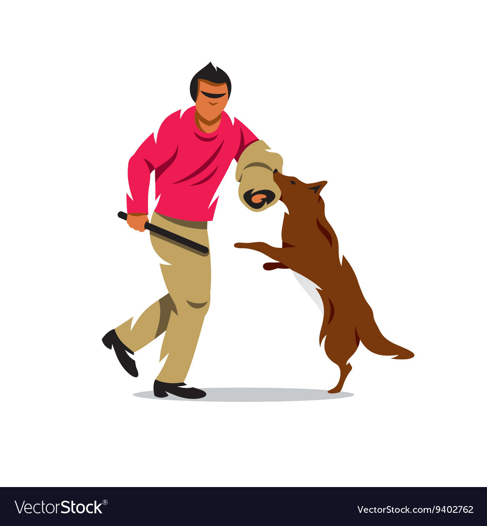 Dog training cartoon vector