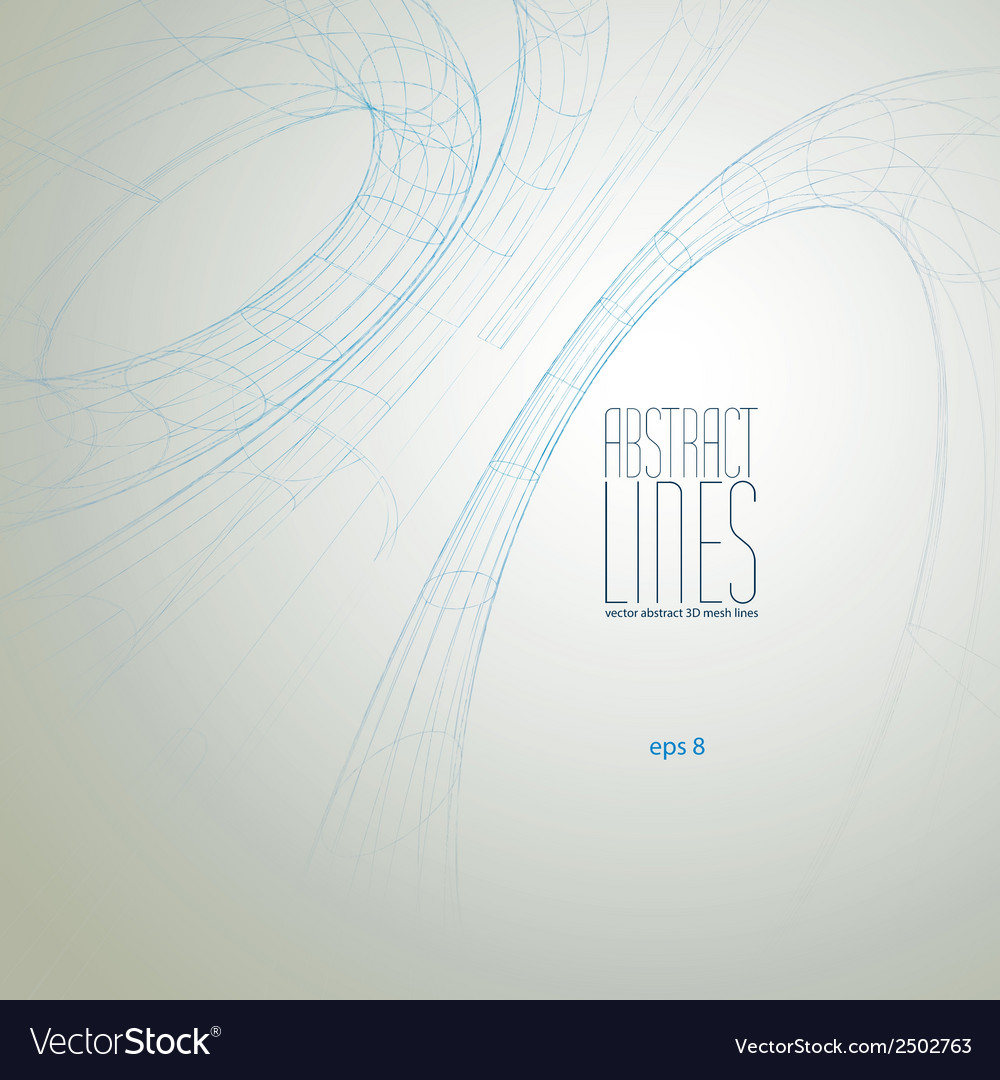 Abstract lines communication and digital te vector