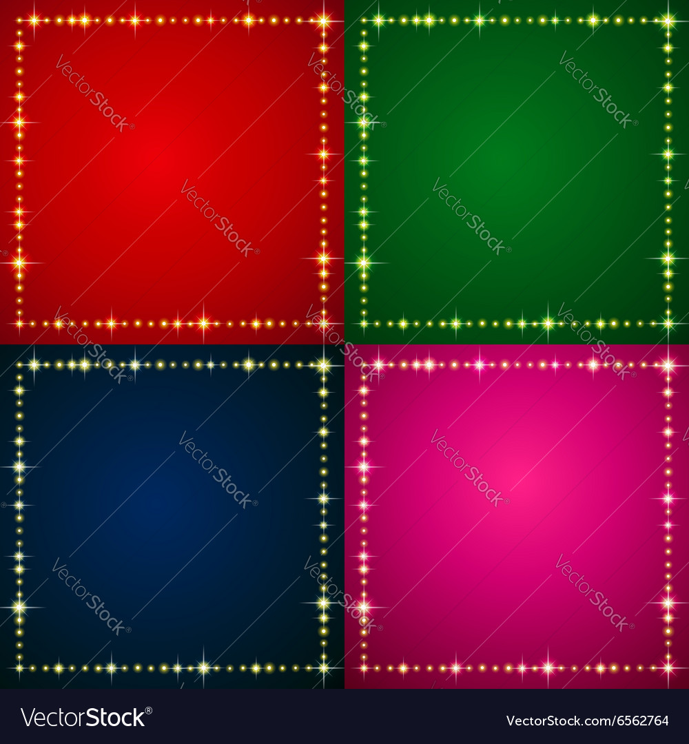 Flash backgrounds set vector