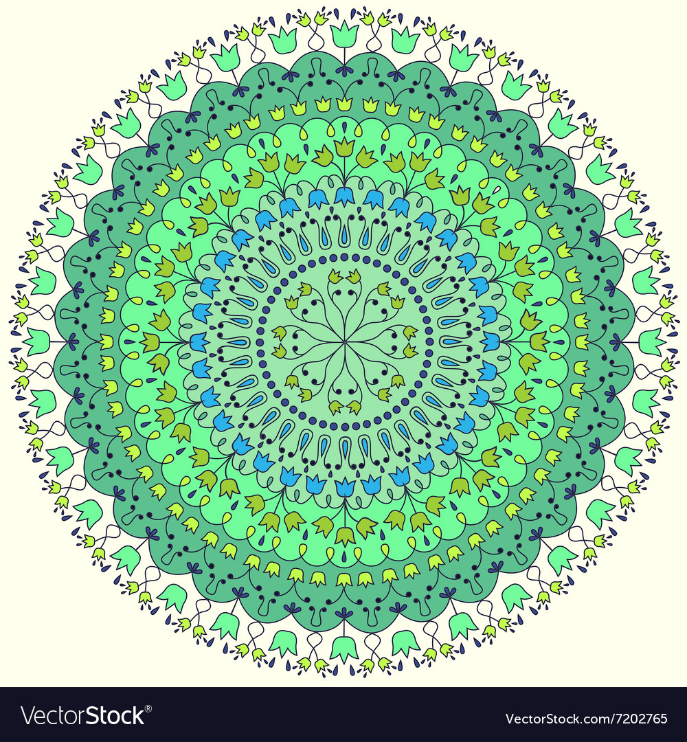 Colorful round ornate vector