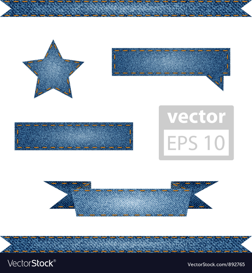 Jeans ribbons vector