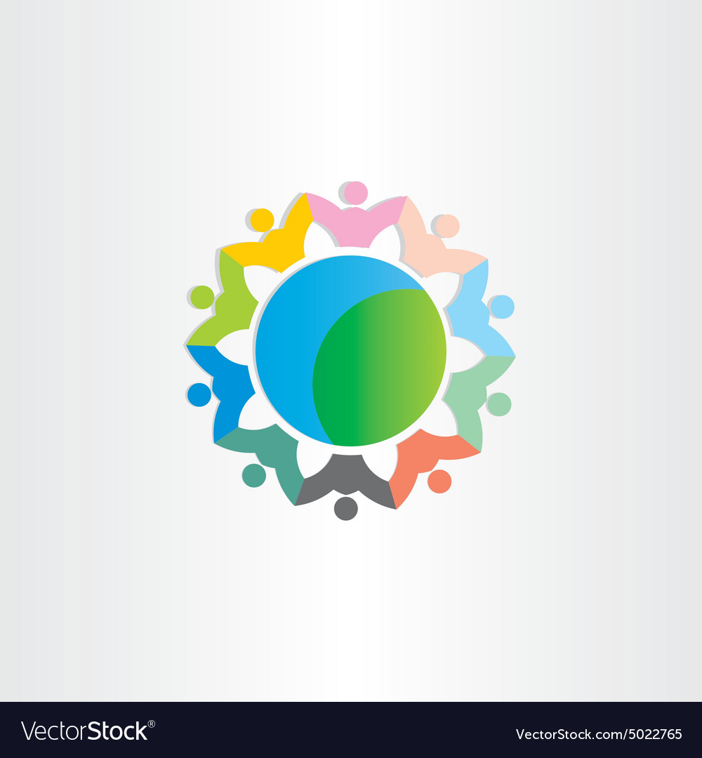 People around the world symbol vector