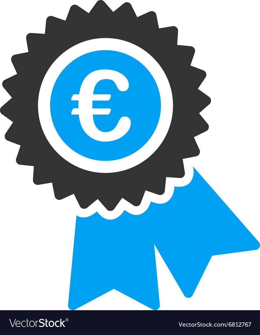 Euro warranty icon vector