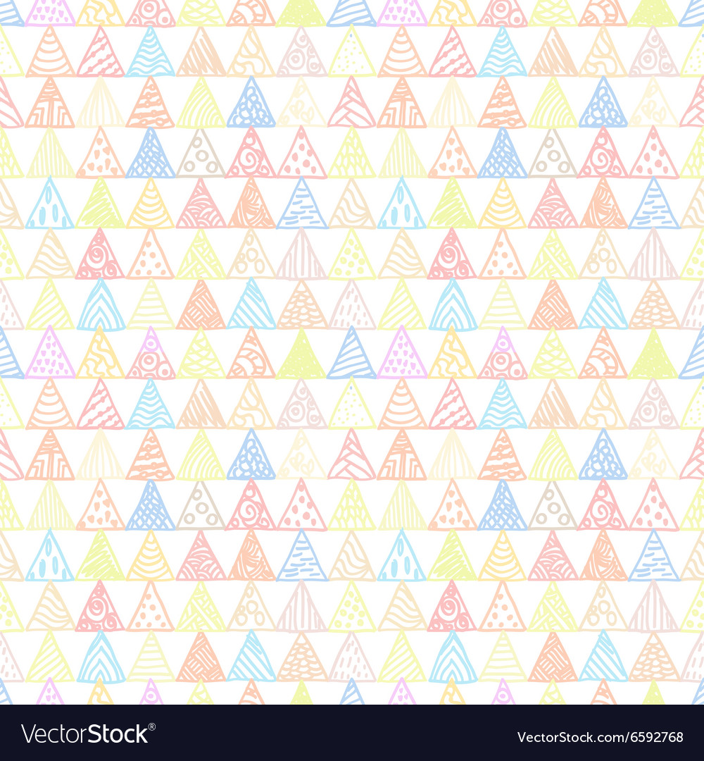 Abstract pattern of triangles light pastel vector