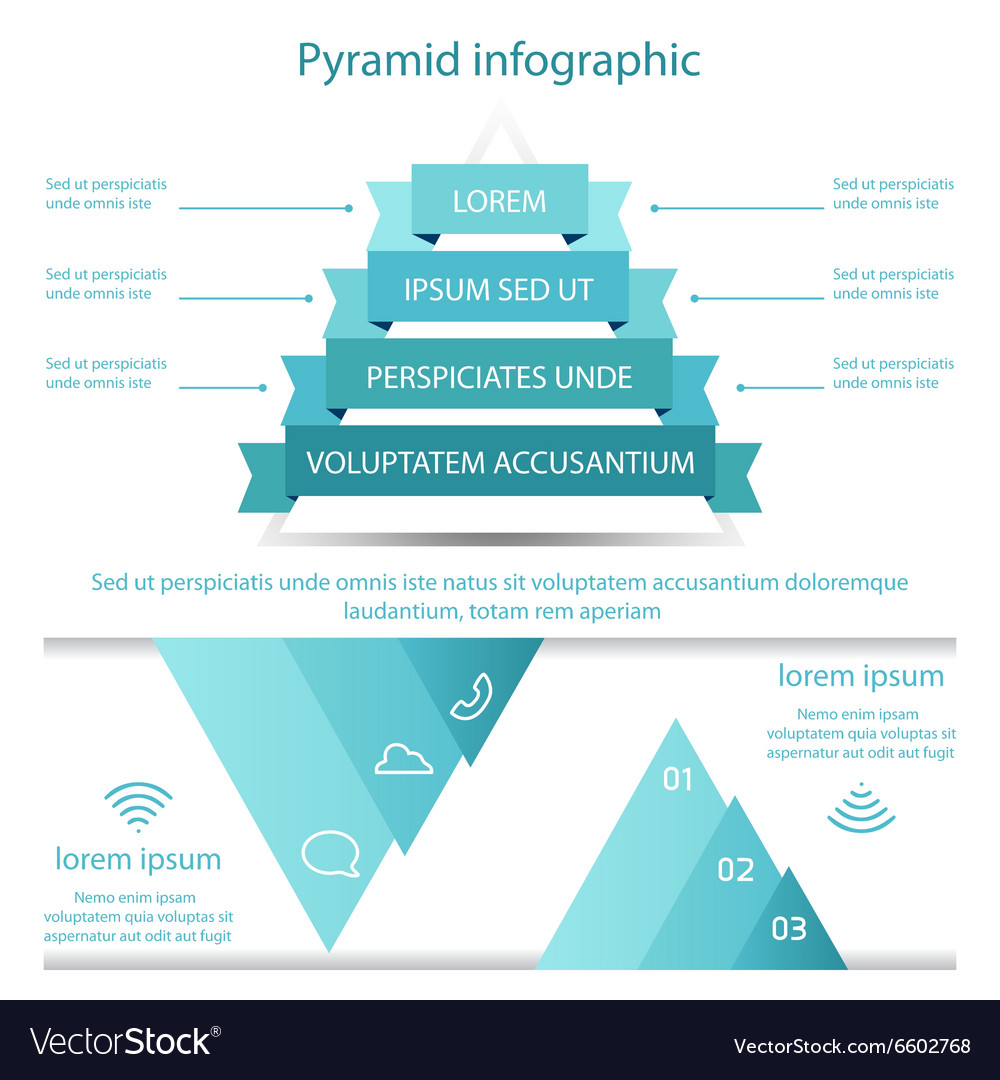 Business pyramid infographic template design vector