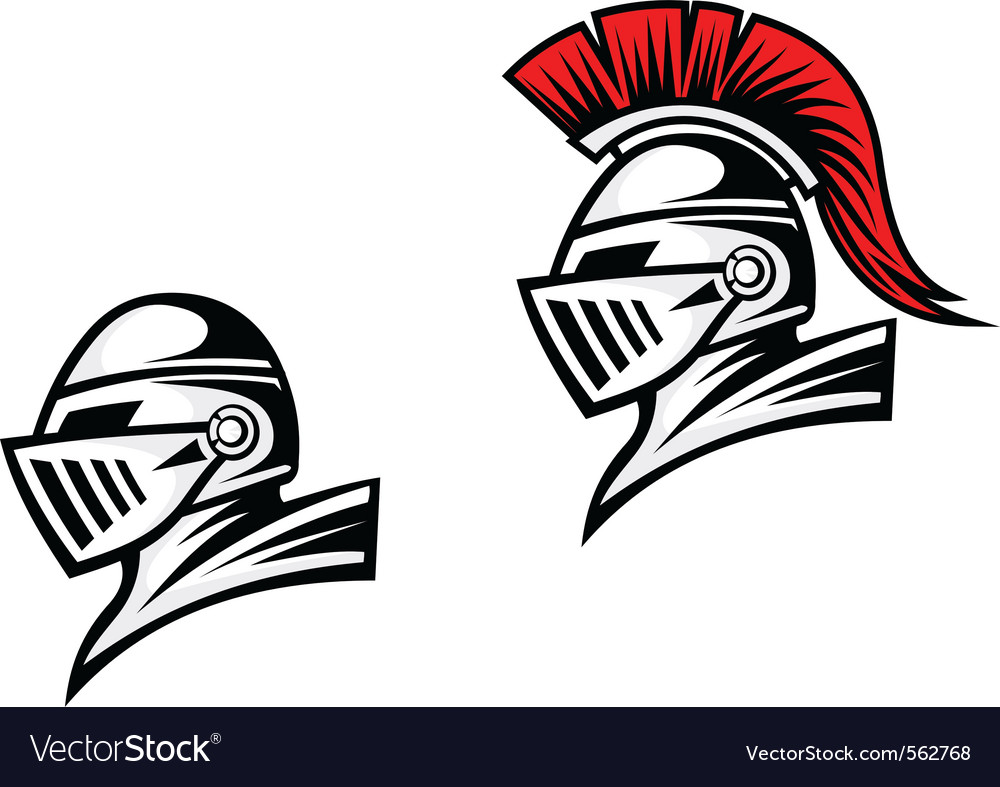 Medieval head heraldry design vector