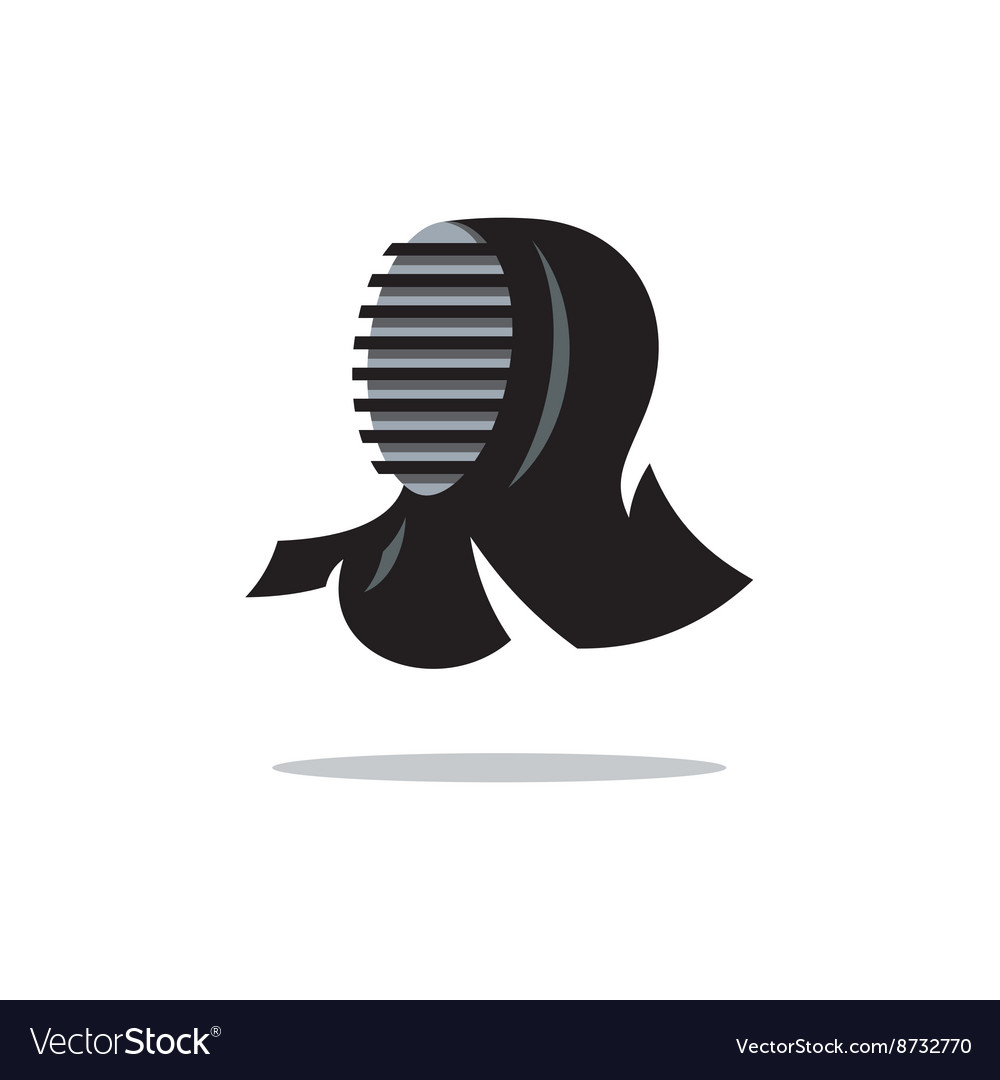 Kendo helmet cartoon vector