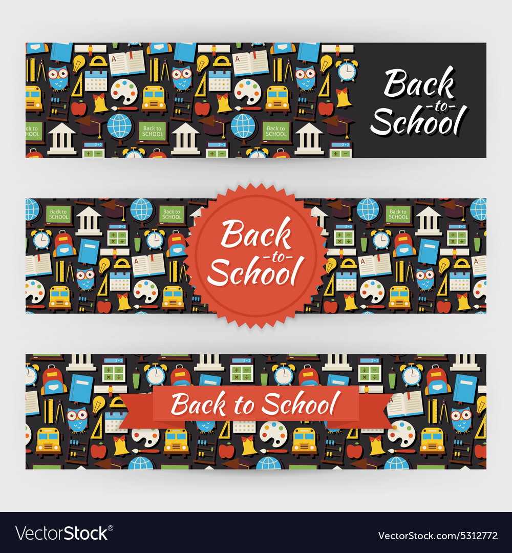 Back to school knowledge and education template vector