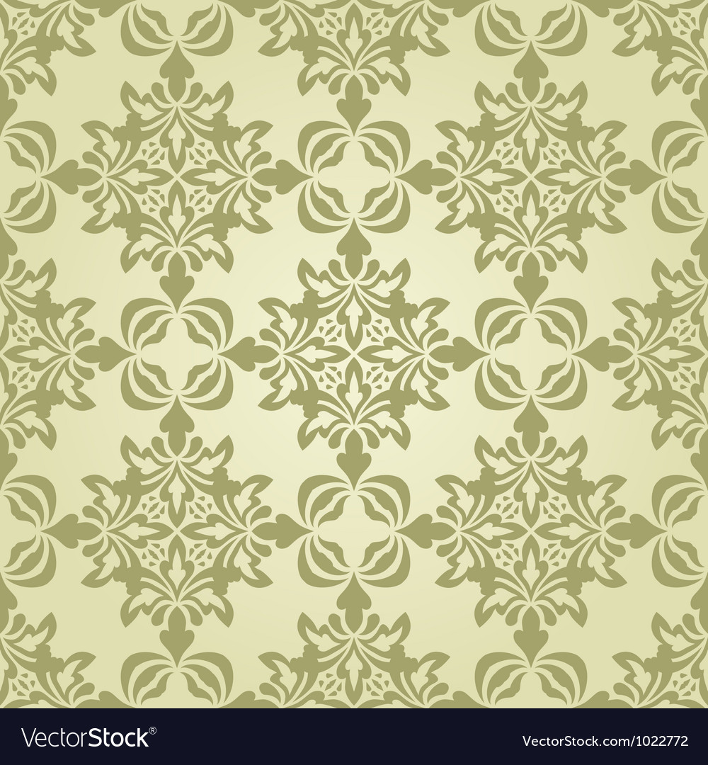 Seamless vintage wallpaper pattern vector