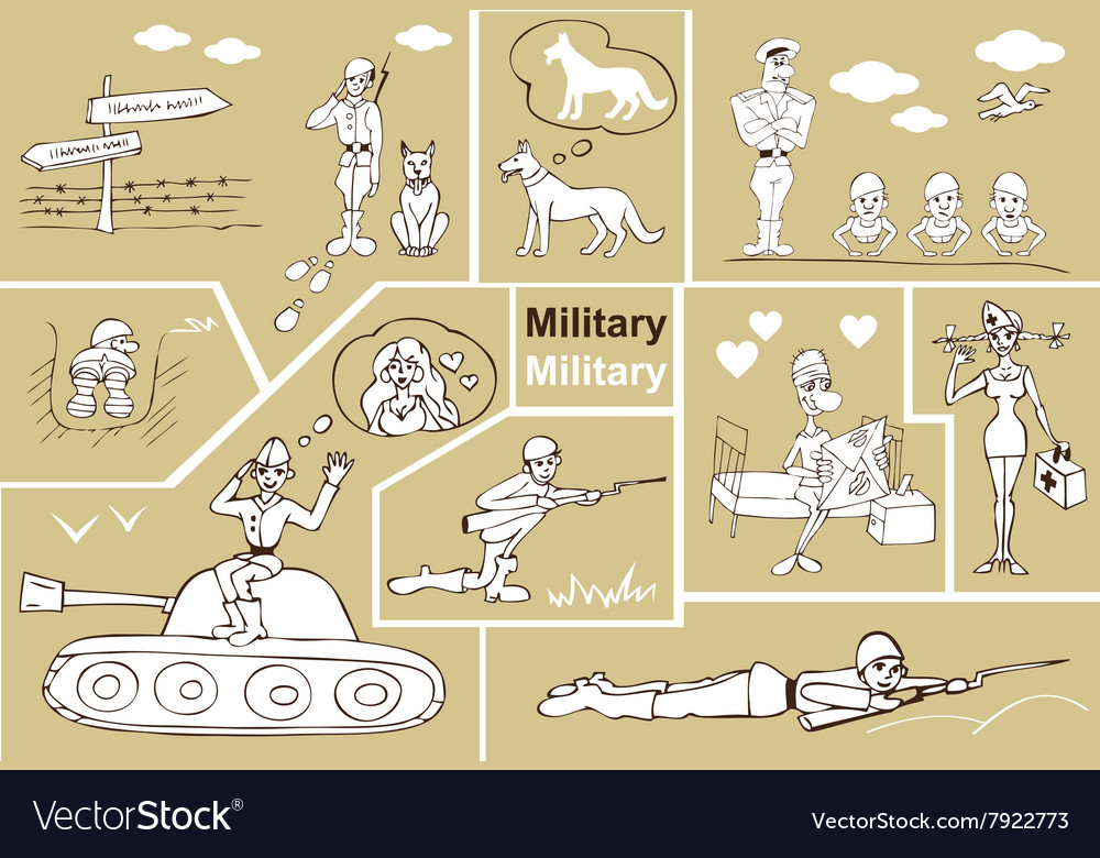 Military and soldiers vector