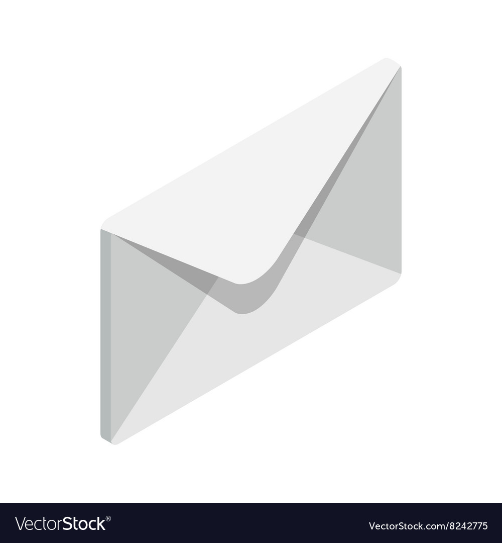 Closed envelope icon isometric 3d style vector