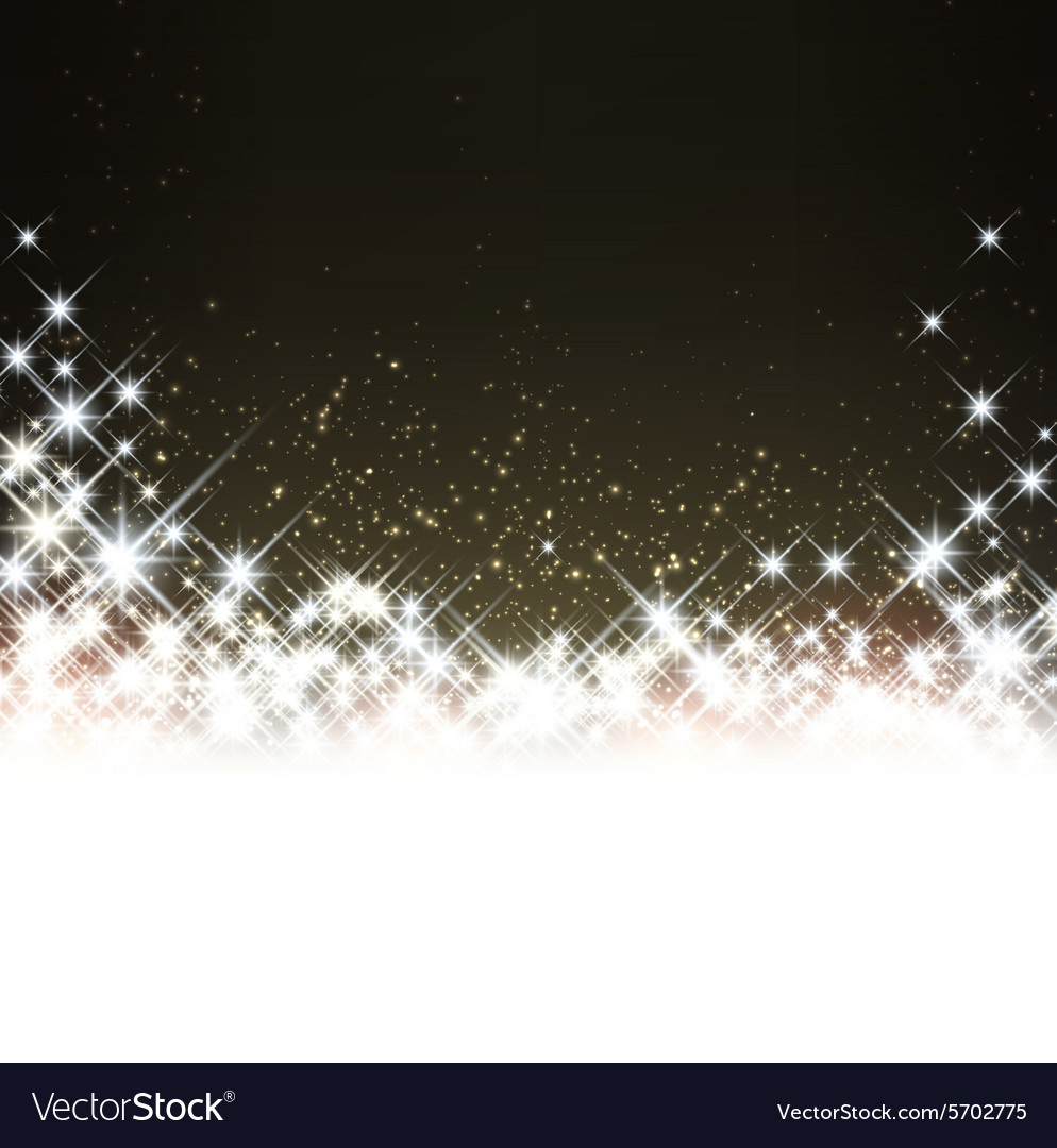 Winter starry christmas background vector