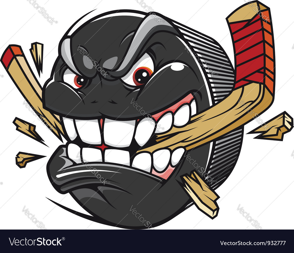 Cartoon hockey puck vector