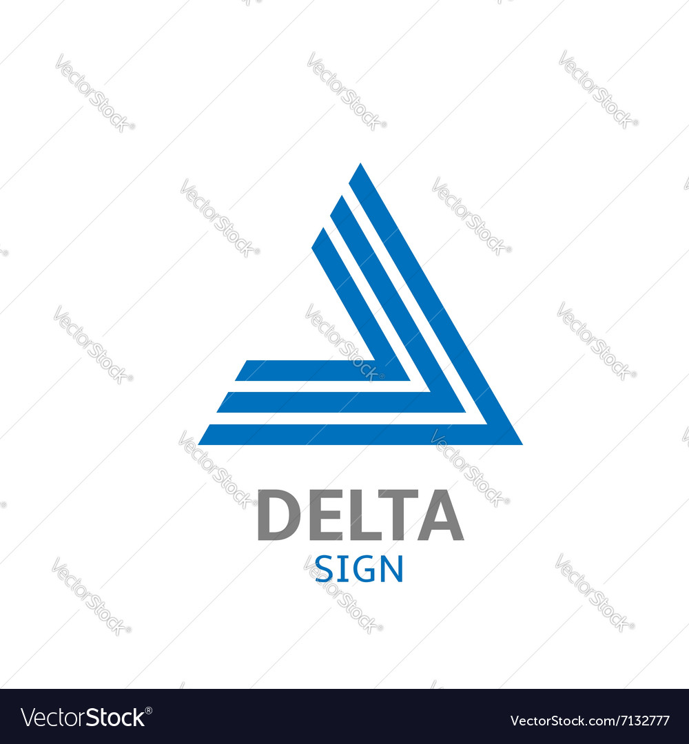 Delta logo sign vector