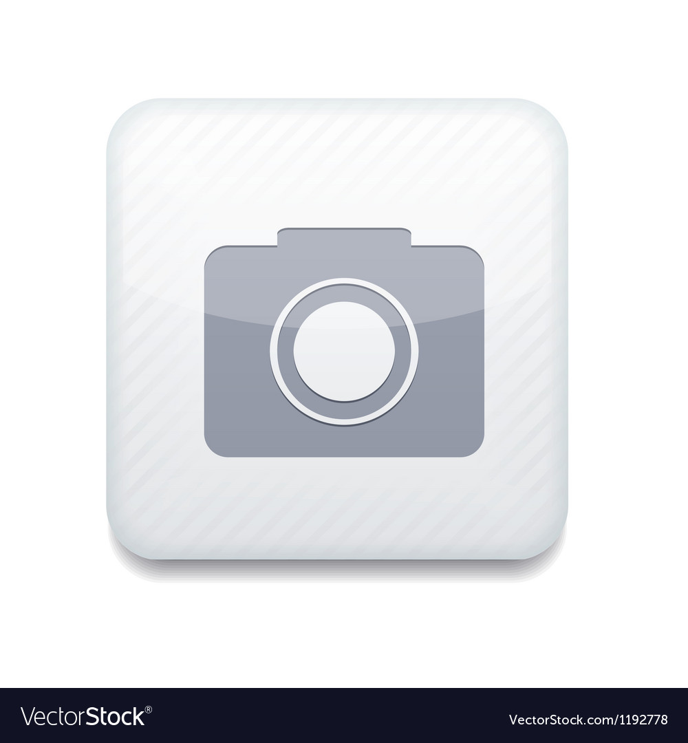 White camera icon eps10 easy to edit vector