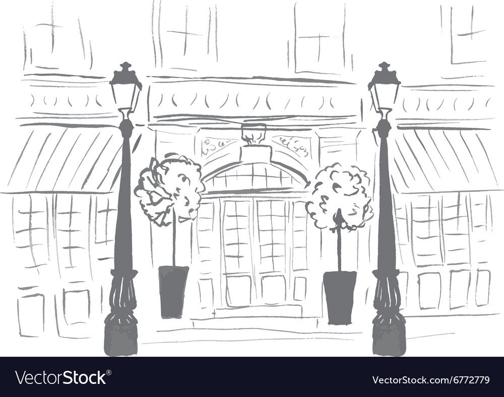 European boutique or restaurant vector