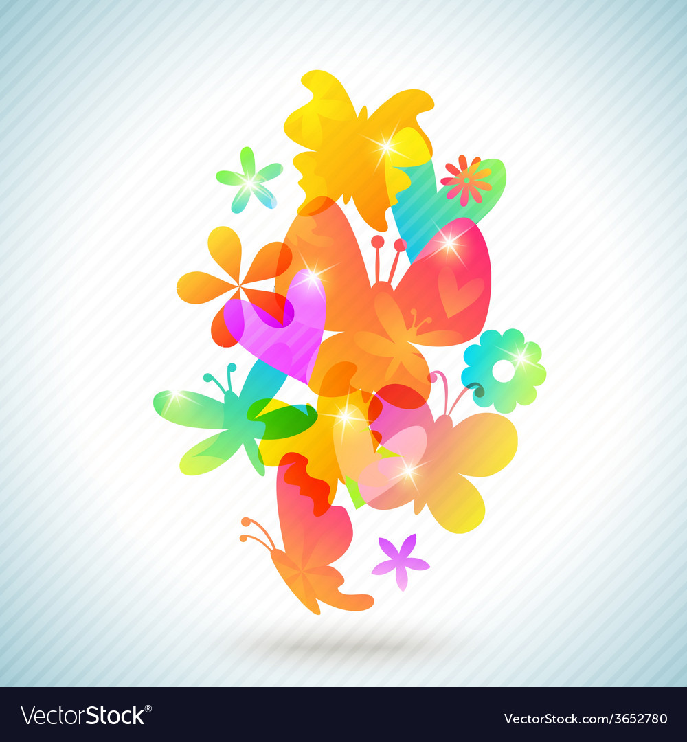 Colorful spring background design vector