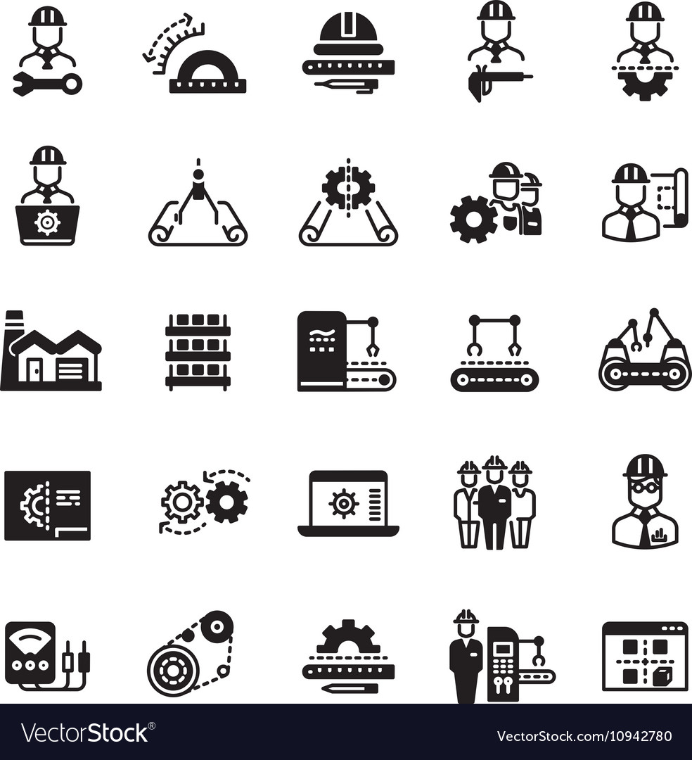 Engineering manufacturing industrial icon vector
