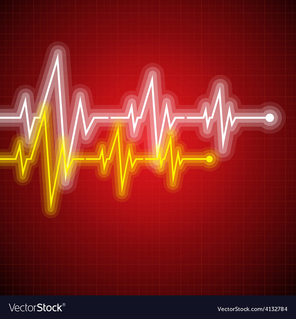 Medical design  cardiogram vector