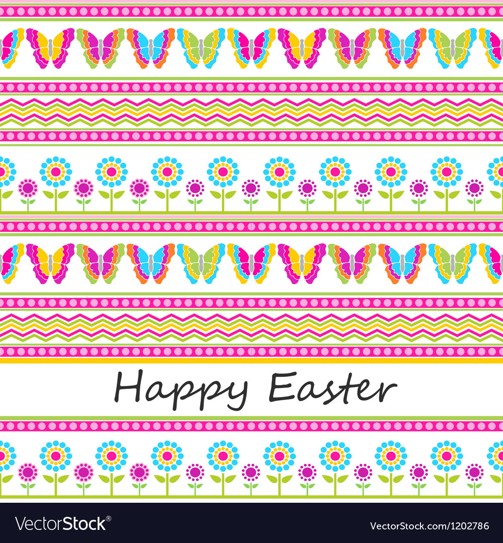 Cute easter seamless background vector