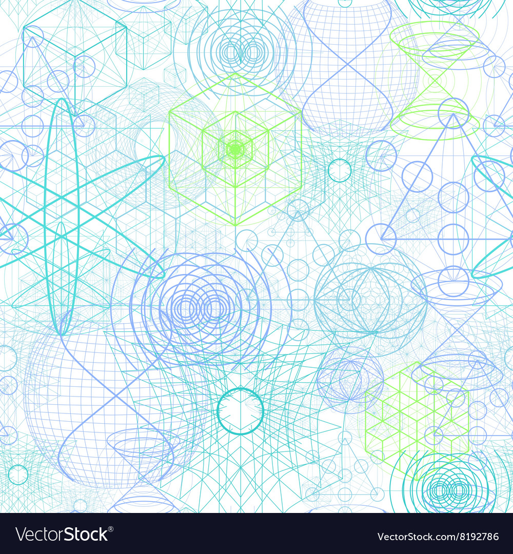 Sacred geometry symbols and elements wallpaper vector